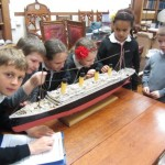Rothesay Primary pupils  studying the Titanic.