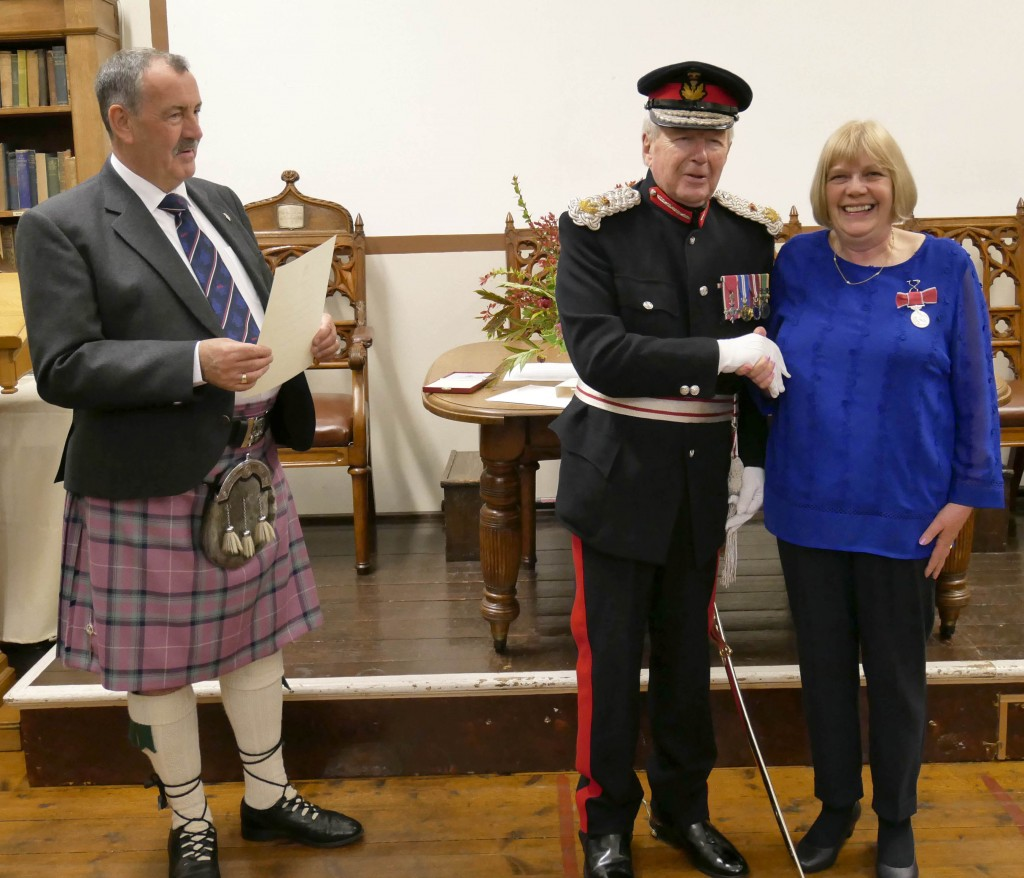 Anne Speirs presented with BEM